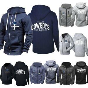 Dallas Cowboys Hoodie Football Hooded Sweatshirt Fleece Spotted Jacket Fans Gift