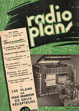 Revue Radio Plans - N° 42  - Avril 1951   - Postes récepteurs de Radio