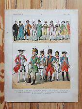 French Costume - c1700 - Fashion History, Original Print, Art, Military uniforms