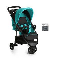 New Hauck Citi Neo II 3 wheeler pushchair buggy pram+raincover Caviar black Aqua