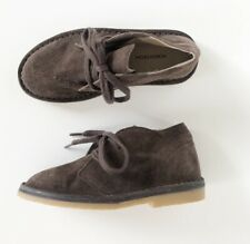 NEW Nordstrom Brown Suede Chukka Boots - Boys Size 11 Toddler