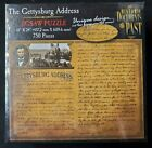 """GETTYSBURG ADDRESS / Historic Documents of Past 750 piece Sealed Puzzle 18""""x 24"""""""