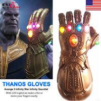 US! Infinity War Infinity Gauntlet LED Light Thanos Gloves Avenger Cosplay Prop