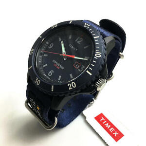 Men's Timex Military Expedition Solar Powered Blue Canvas Strap Watch TW4B14300