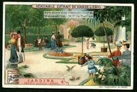View Of A Modern 1900 European Garden c1905 Trade Ad  Card