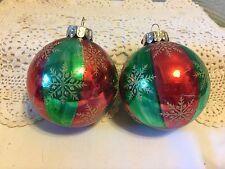 Celebrations by Radko pair of Glass Ornaments