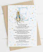 Peter Rabbit Initial 'Will you be my Godparent/Godmother/Godfather' Card
