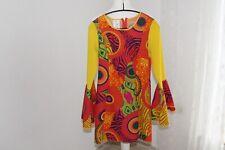 Hippie Kleid Mini Gr. 34 kunterbunt Flower Power Verkleidung Kostümfest Karneval