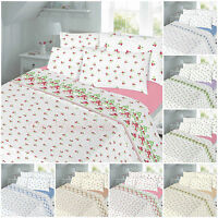 Flannelette Duvet Cover Set Double King Single Sheet Set 100% Brushed Cotton New