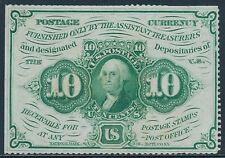 Fr1241 10¢ 1St Issue Fractional Currency Perf Edges W/O Monogram Au+ Bt708