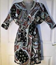 NEW BURGUNDY & BLACK PAISLEY DRESS ~ TOP SIZE 10/12  # 269
