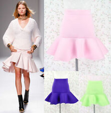 Polyester Dry-clean Only Mini Solid Skirts for Women