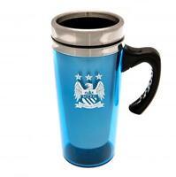 Man City FC Aluminium Travel Mug With Handle - Match Day Mug - Ideal Gift
