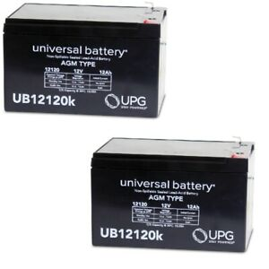 2PK UPG UB12120 F1 12V 12Ah Replacement Battery for Currie F-18 Electric Scooter