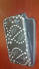 Bling Glitter Crystal Diamond Leather Flip Case cover pouchFor Blackberry Phones