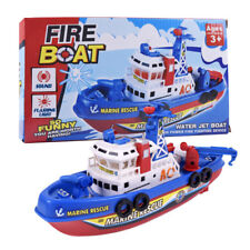 Kids Children Best Toy Fire Boat Music Light Electric Marine Rescue Non-remote