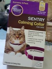 Sentry Calming Collar for Cats, 2 Pack. New