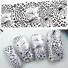 2x Mode Water Transfer Nail Art Sticker Nagel Tattoo Aufkleber Leopard Design