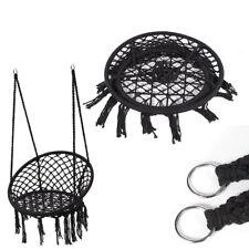 120cm Height Cotton Rope & Iron Hoop Bohemian Chic Hammock Chair Macrame Swing