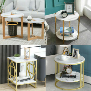 Coffee Table Marble Side Tables Bedside Tables Storage MDF End Table Furniture