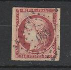 France 1849 , 1 Fr Carmine . Ceres fine used ( thin spot )
