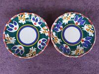"Pottery Barn Garden Animal Salad Plates Mexico Bunnies Rabbits 8.5"" Set of 2"