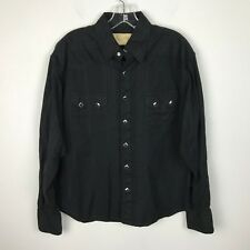 Womens Scully Western Shirt Size S Cotton Pearl Snap Diamond Buttons Long Sleeve