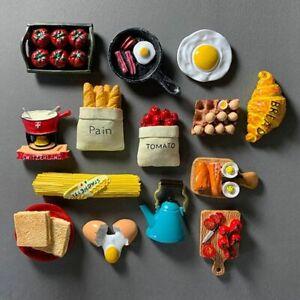 Imitation 3D Fridge Magnet Food Refrigerator Paste Egg Bread Paste Stick Decor
