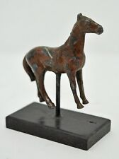 Original Old Antique Hand Crafted Engraved Iron Horse Figurine