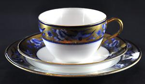 "c1910's Superb Shelley (Late Foley) ""Blue Swallows"" Pattern 8190 Bute Tea Trio"