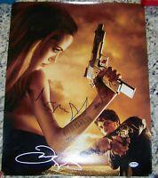 Angelina Jolie & James McAvoy WANTED Signed Autographed 16x20 Photo PSA LOA!