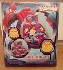 New Marvel Ultimate Spider-man Reversible Single Bed Duvet Cover Set