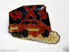 WOW Vintage 4x4 Pickup Truck Four Wheeling Jacket Hat Enamel Pin Pinback