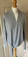 South Wrap Cardigan Grey waist Tie Uk 14 New & Tagged