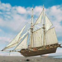 DIY 1:100 Halcon Wooden Sailing Boat Model Kit Ship Assembly Decoration Gift