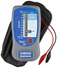 SUPCO M500 Insulation Tester/Electronic Megohmmeter with Case, 0 to 1000 megohms