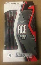 Harrows Ace Rubber Grip 26g Steel Tip Darts 12864 w/ FREE Shipping