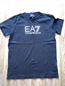 Boys EA7 T Shirt. Boys Armani Top. Black EA7 T-Shirt. Age 14 Used