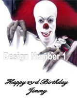 IT Penny Wise Horror Personalised Large Birthday Card Dad Uncle