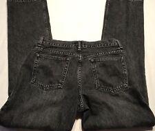 London Womens Jeans Autlentic Quality Denim Black Size 10 A855