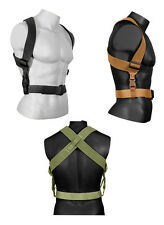 Military Airsoft Army Coyote Brown Olive Drab Black Tactical Combat Suspenders