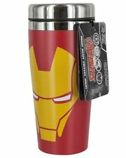Marvel IRON MAN Travel MUG with LID - Insulated Cup STAINLESS STEEL Red Yellow