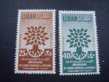 Lebanon 1960, World Refugee Year set of 2 MNH - SG 647/8  CAT £3.30