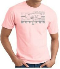 Mens T-Shirt Ford Mustang Legend Honeycomb Grille