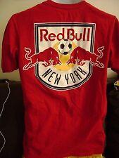 NY RED BULLS/ADIDAS T-SHIRT-MEDIUM- 2 SIDED MLS/ADIDAS SHIRT. RED BULL