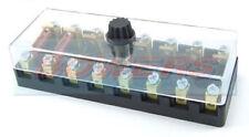 6V 12V 24V voltios 8 vías de cerámica continental torpedo Soporte Caja de Fusible Coche Clásico