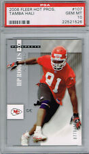 TAMBA HALI KC Chiefs 2006 Fleer Hot Prospects #107 Rookie RC/1150 PSA 10 Pop 2