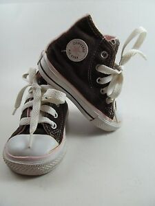 Converse All Star Brown Toddler Baby 4 Chuck Taylor high-tops laces Vegan