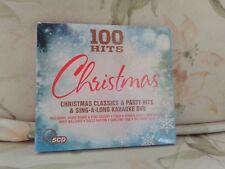 100 Hits Christmas - Various Artists 5Cd + Karaoke Dvd New Free Uk Postage