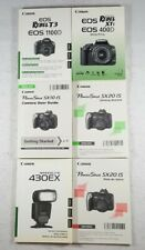 New listing Nice Canon Manual & Guide Lot Of 6 - SpeedLite 430Ex, PoweShot Sx20 Is, Etc.